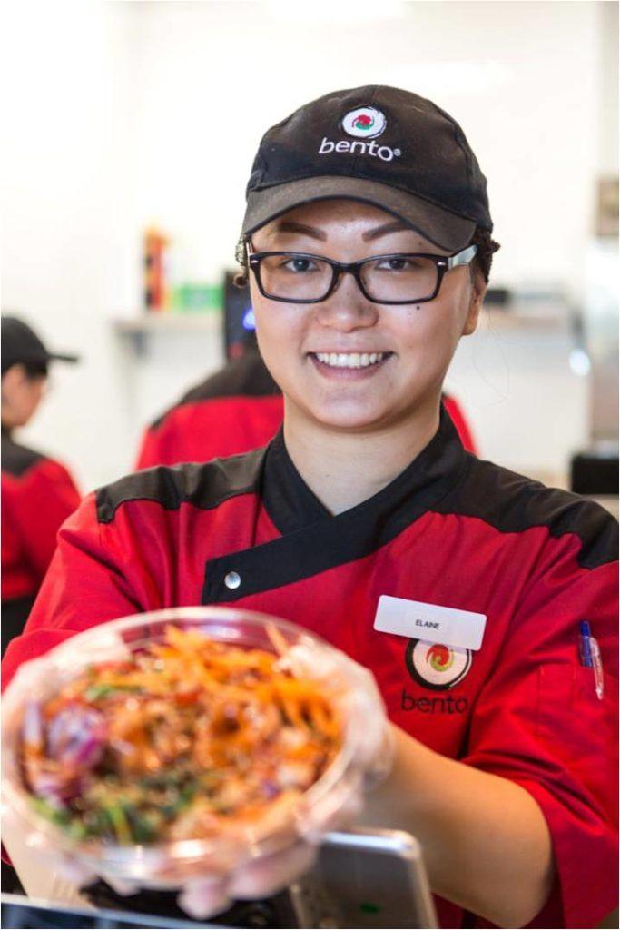 Sushi Chef Elaine Presenting a Poké Bowl