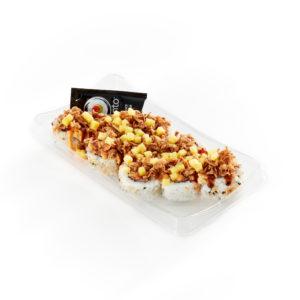 Spicy Spicy Cali Mango Crunch Roll