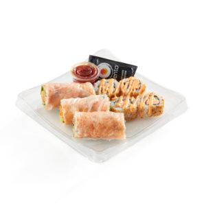 Spicy Spring Roll Sushi Combo