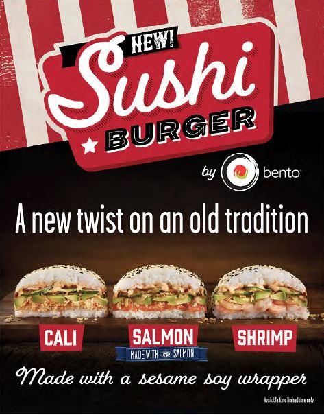 Sushi Burger LTO promo