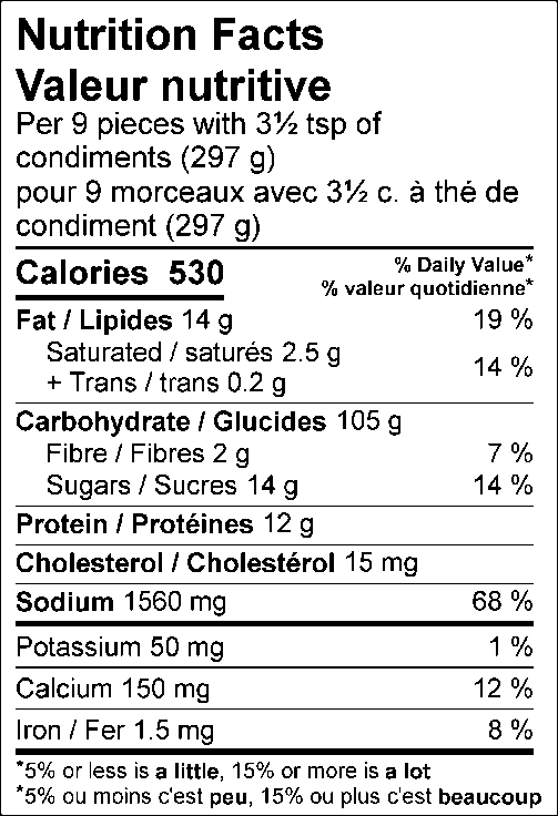 Calories 530